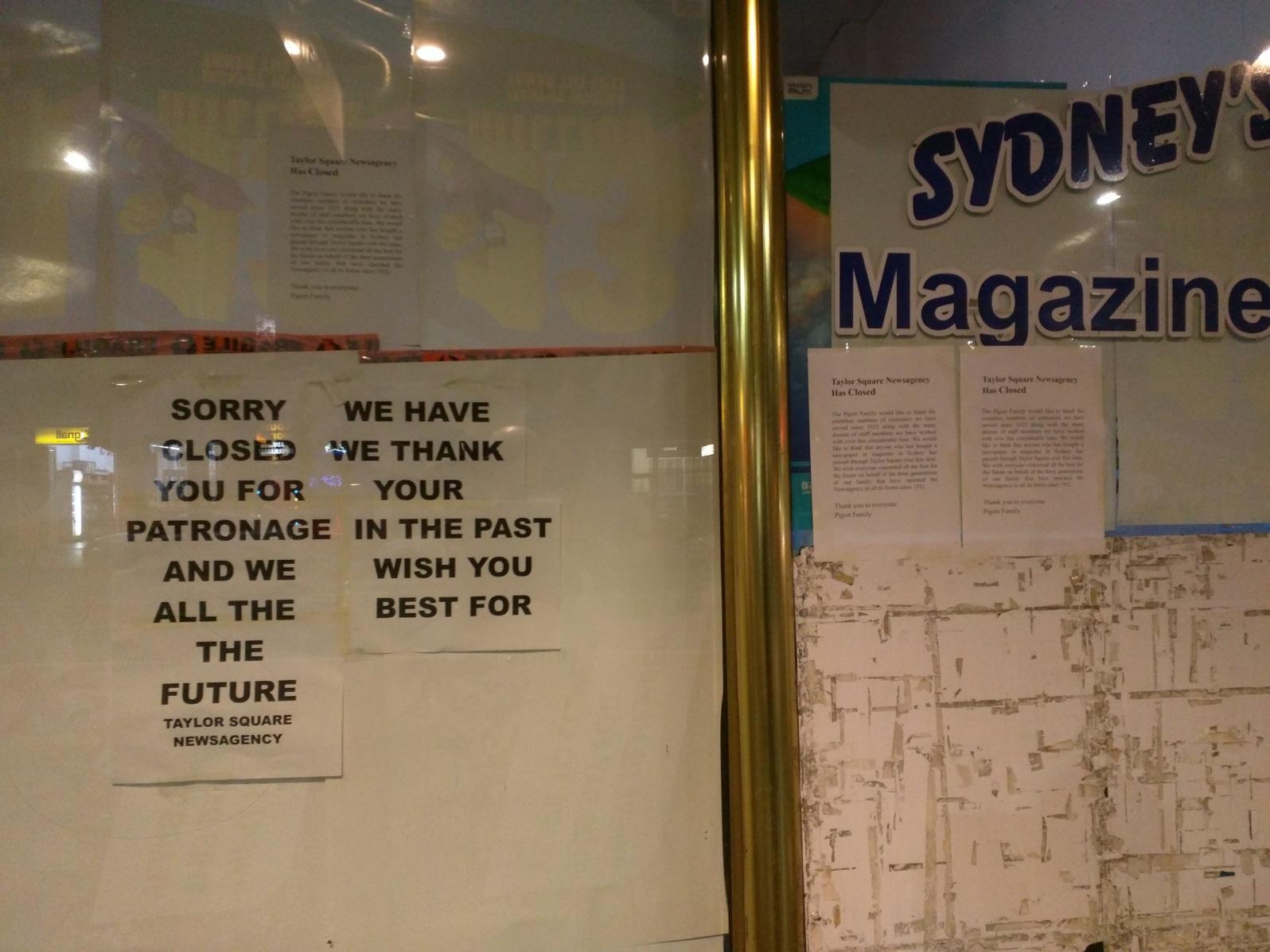 Taylor Square Newsagency