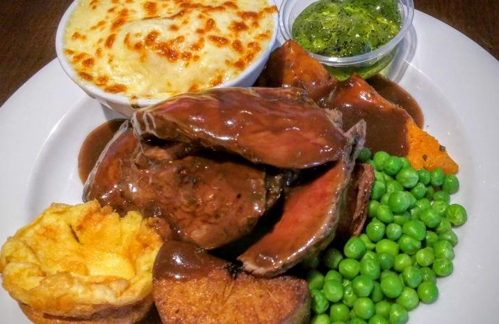 Lamb roast at the Bat and Ball Hotel, Sydney