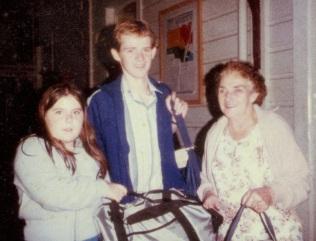 Michelle Bobbin, James O'Brien, Bertha O'Brien leaving for Germany in May 1983