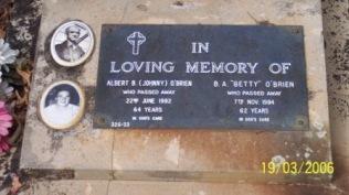 Albert and Bertha O'Brien Grave