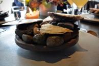 Seafood platter and crocodile fat.