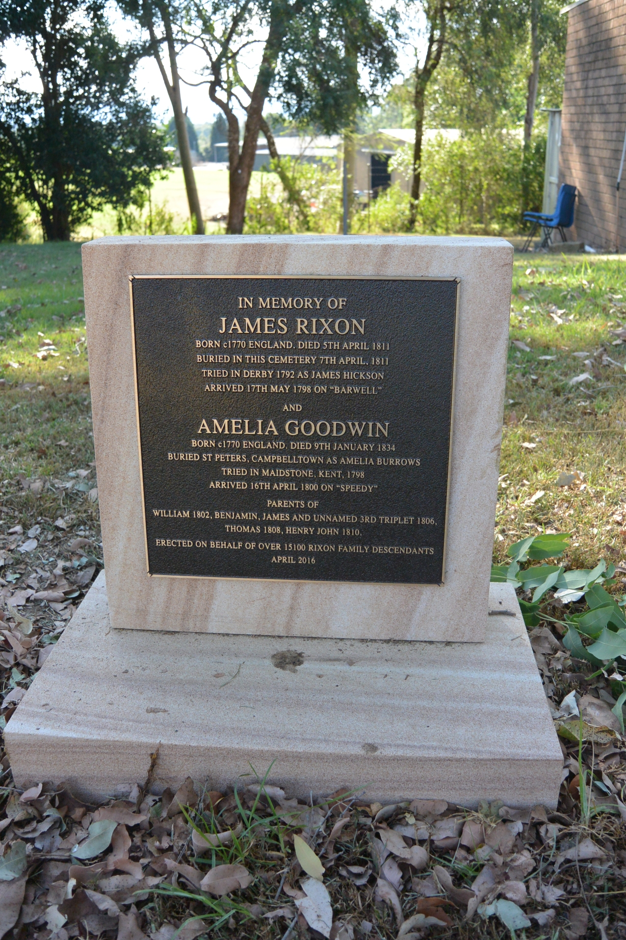 James Rixon and Amelia Goodwin