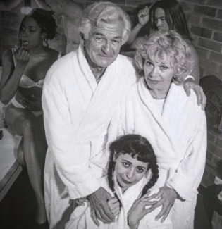 Details Creator Milne, Peter, 1960- Title Penny Arcade with Bob Hawke and Blanche D'Alpuget and several erotic dancers backstage at the Seymour Centre Theatre, Sydney, April 1995 [picture] / Peter Milne Call Number PIC/10588/4 LOC Drawer PIC/10588 Created/Published 1995 Extent 1 photograph : b&w ; 51.2 x 51.2 cm, on sheet 61 x 61 cm. Physical Context PIC/10588/4 LOC Drawer PIC/10588-Penny Arcade with Bob Hawke and Blanche D'Alpuget and several erotic dancers backstage at the Seymour Centre Theatre, Sydney, April 1995 [picture] /