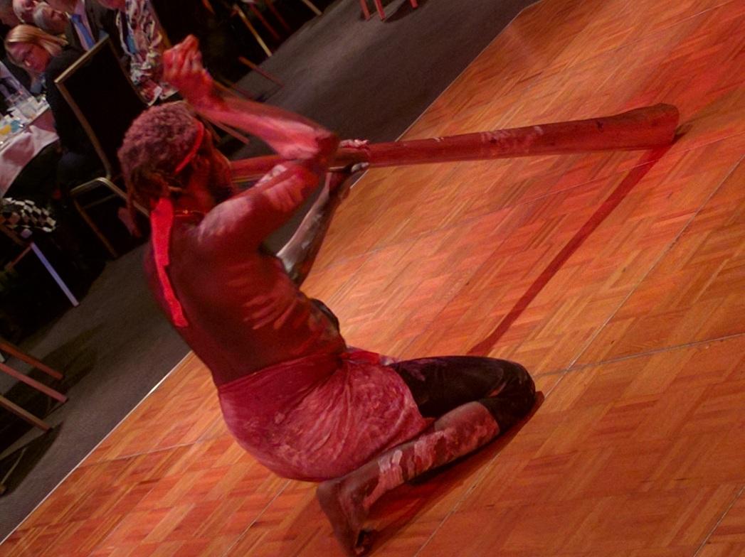 Didgeridoo performance at #affinityiftar dinner at NSW Parliament.