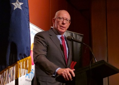 "Australia should be ""blended, not merely co-located"" says NSW Governor, David Hurley."