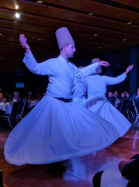 Whirling dervish - Naqshbandiyya Nazimiyya Sufi Order at #affinityiftar NSW Parliament.