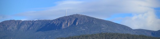 Mount Wellington looms over the city.