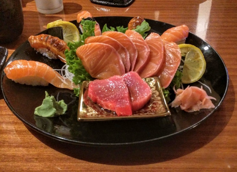 Dinner at Ichibang, Surry Hills. The blue-fin tuna with only salt and sesame oil.