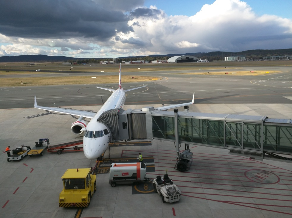 View from Virgin Lounge, Canberra