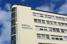 Making the best use of space, the triangular Sydney Dental Hospital, at the corner of Elizabeth and Chalmers streets