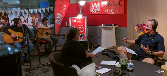 Louise Saunders at ABC Radio, Hobart