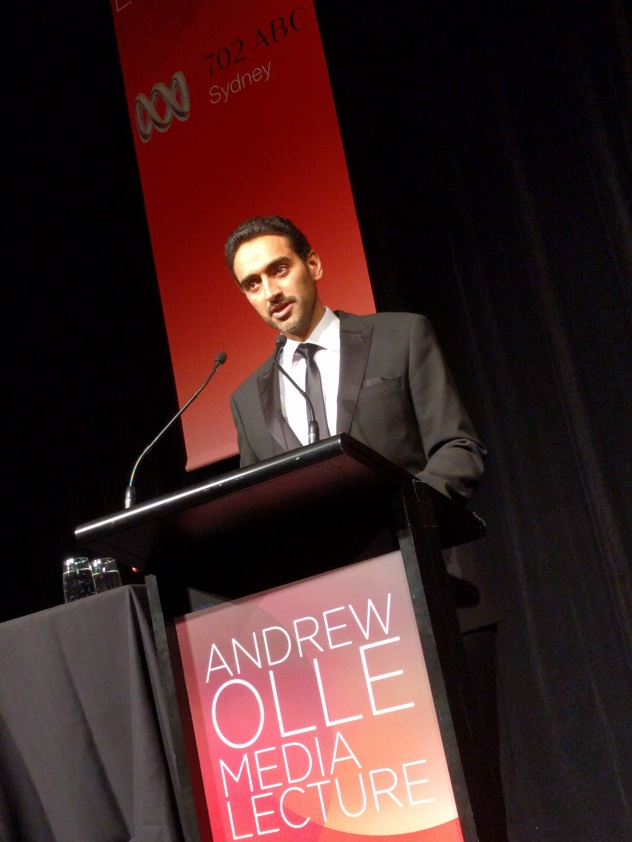 Waleed Aly delivers the Andrew Olle Media Lecture