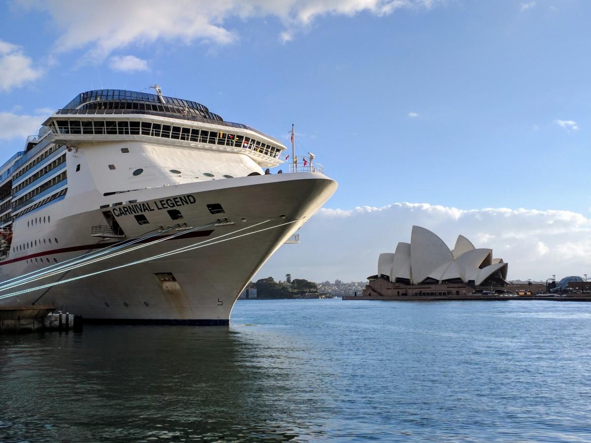Cruise ship and Sydney Opera House