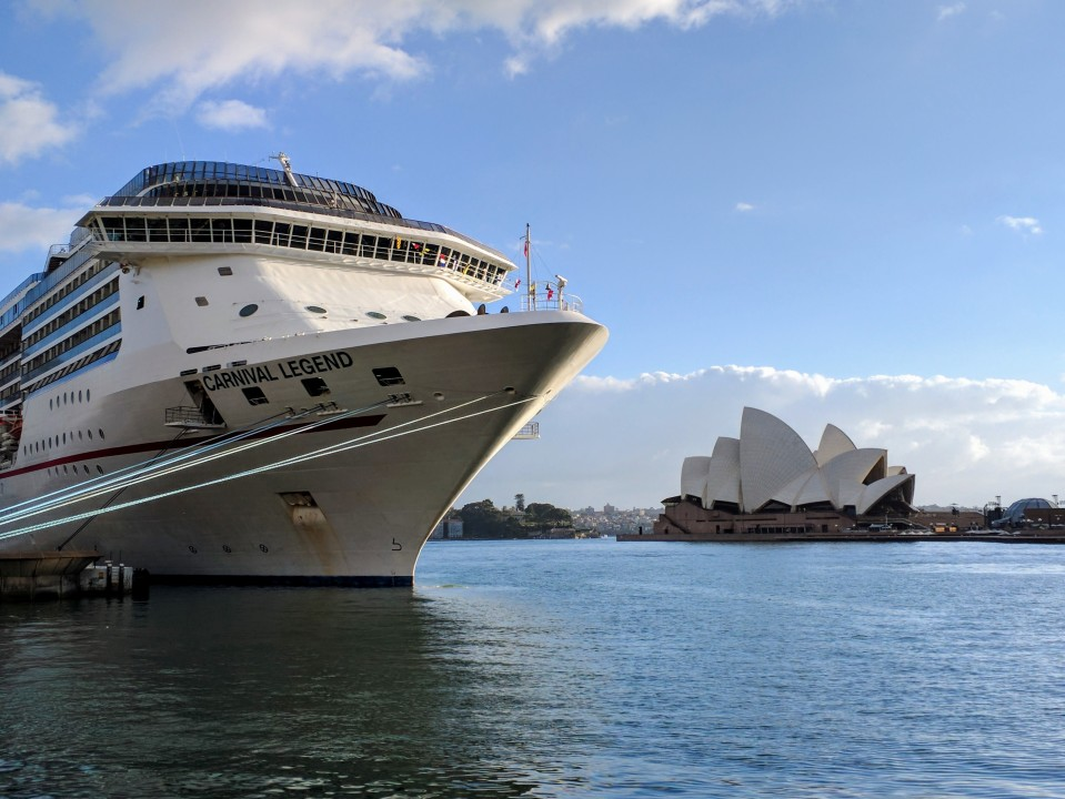 Cruise ship and Sydney Opera House
