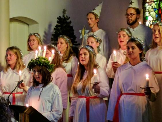 Lucia celebration at Svenska kyrkan in Sydney