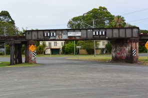 I do wonder if there's much of a future for the nearby railway viaduct, where family members once walked upon to escape the food waters, has much of a future, as the railway line which once brought the hippies to Lismore closed many years ago.
