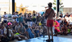 George Michael tribute at Tropical Fruits Parade and Launch