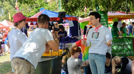 Alan Tsibulya from Youtube at Sydney Gay and Lesbian Mardi Gras Fair Day