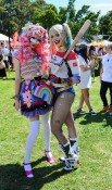 Some colourful characters at Sydney Gay and Lesbian Mardi Gras Fair Day