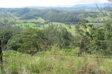 View over Rixon land from the top of the hill
