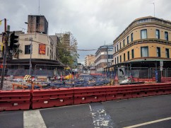Light Rail - Devonshire Street construction continues