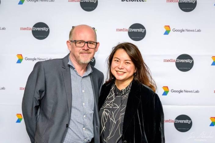 Attending the launch of Media Diversity Australia