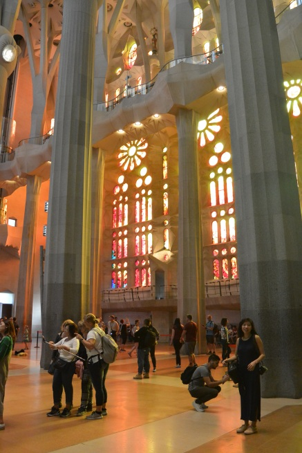 Church windows at The Basílica i Temple Expiatori de la Sagrada Família