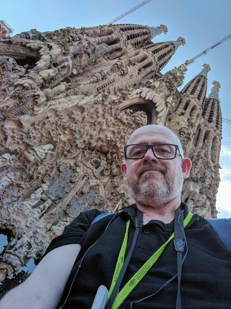Harsh angle, but it's meet at The Basílica i Temple Expiatori de la Sagrada Família