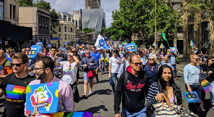 Marriage Equality Rally on Parramatta Road