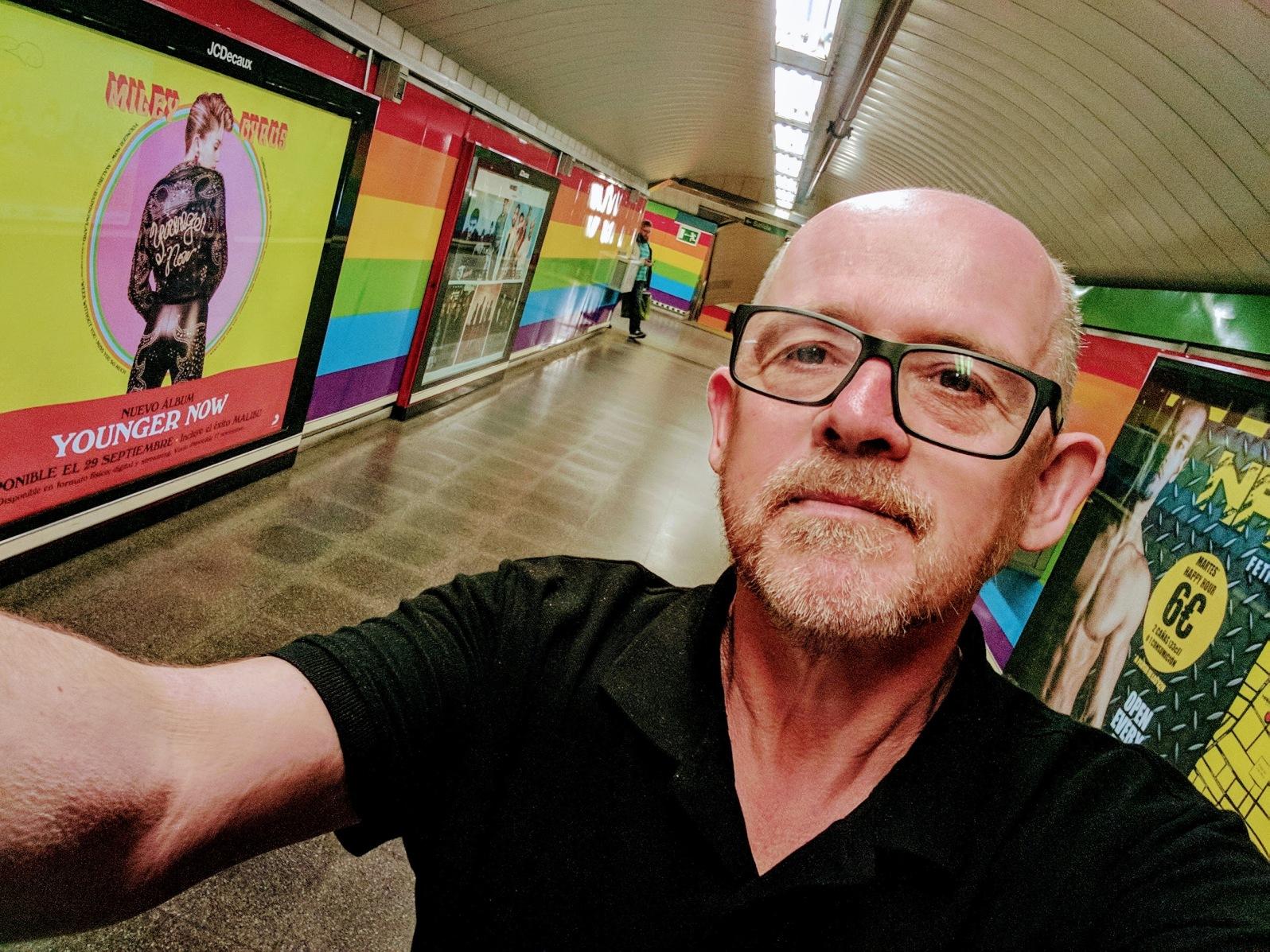 Rainbow Metro in Madrid