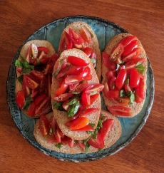 Bruschetta with awesome Nimbin tomatoes