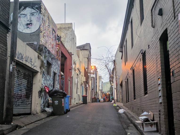 Hope Street in Darlinghurst Sydney