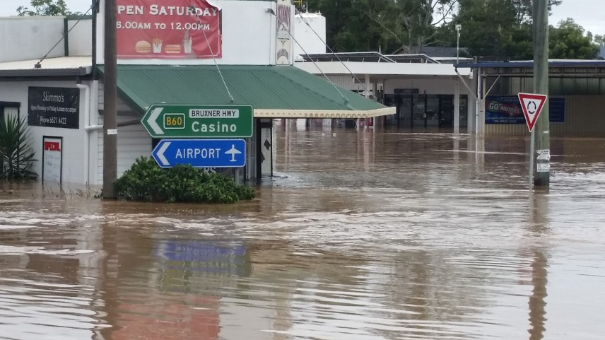 Lismore Flood Photo - Skimmos Corner