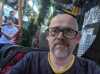 Onboard a Christmas bus in Sydney
