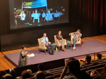 Panel at the Riot movie preview screening
