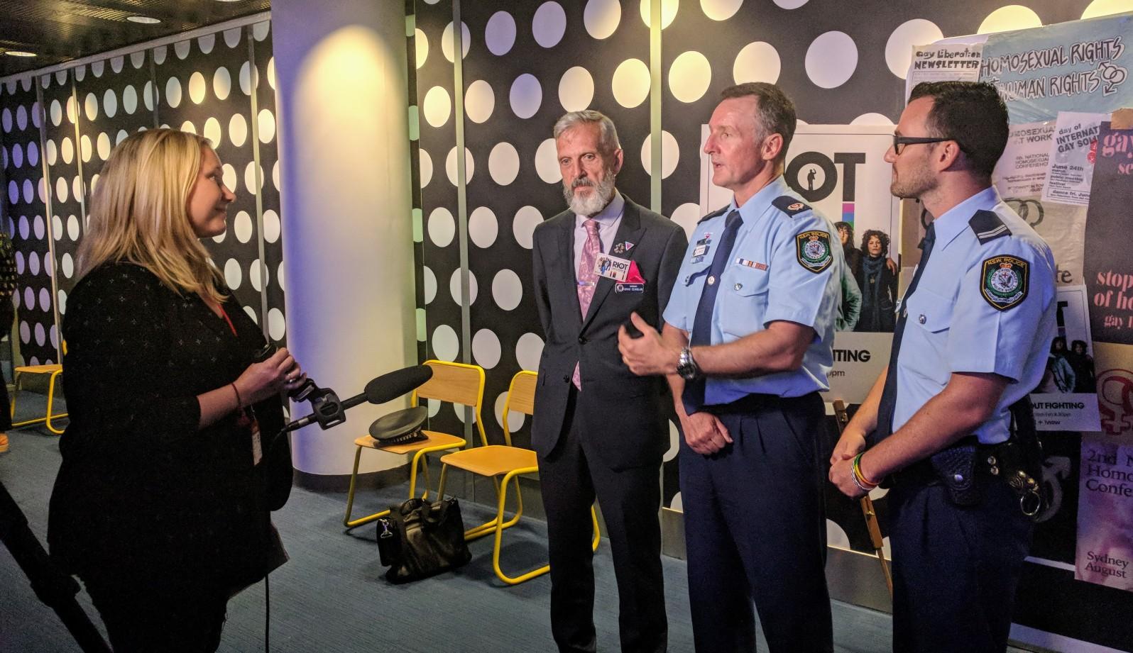 Police at Riot Screening