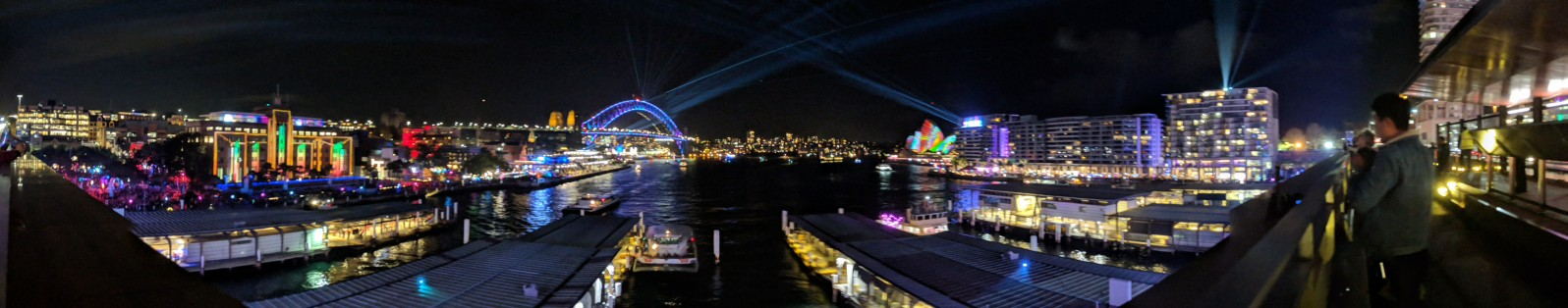 Cahill Expressway View of Sydney's Vivid Festival