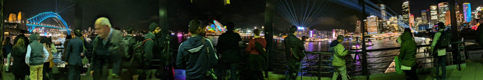 Photographic Crowd at Vivid