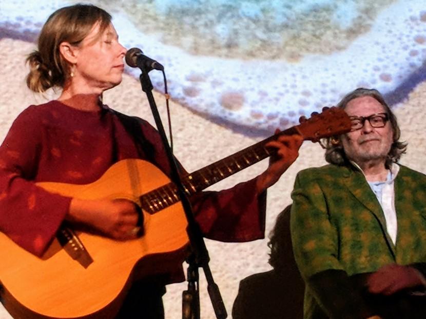 Sandy Shores performing at The Tom Mann Theatre. Amanda Brown. Dave Mason.