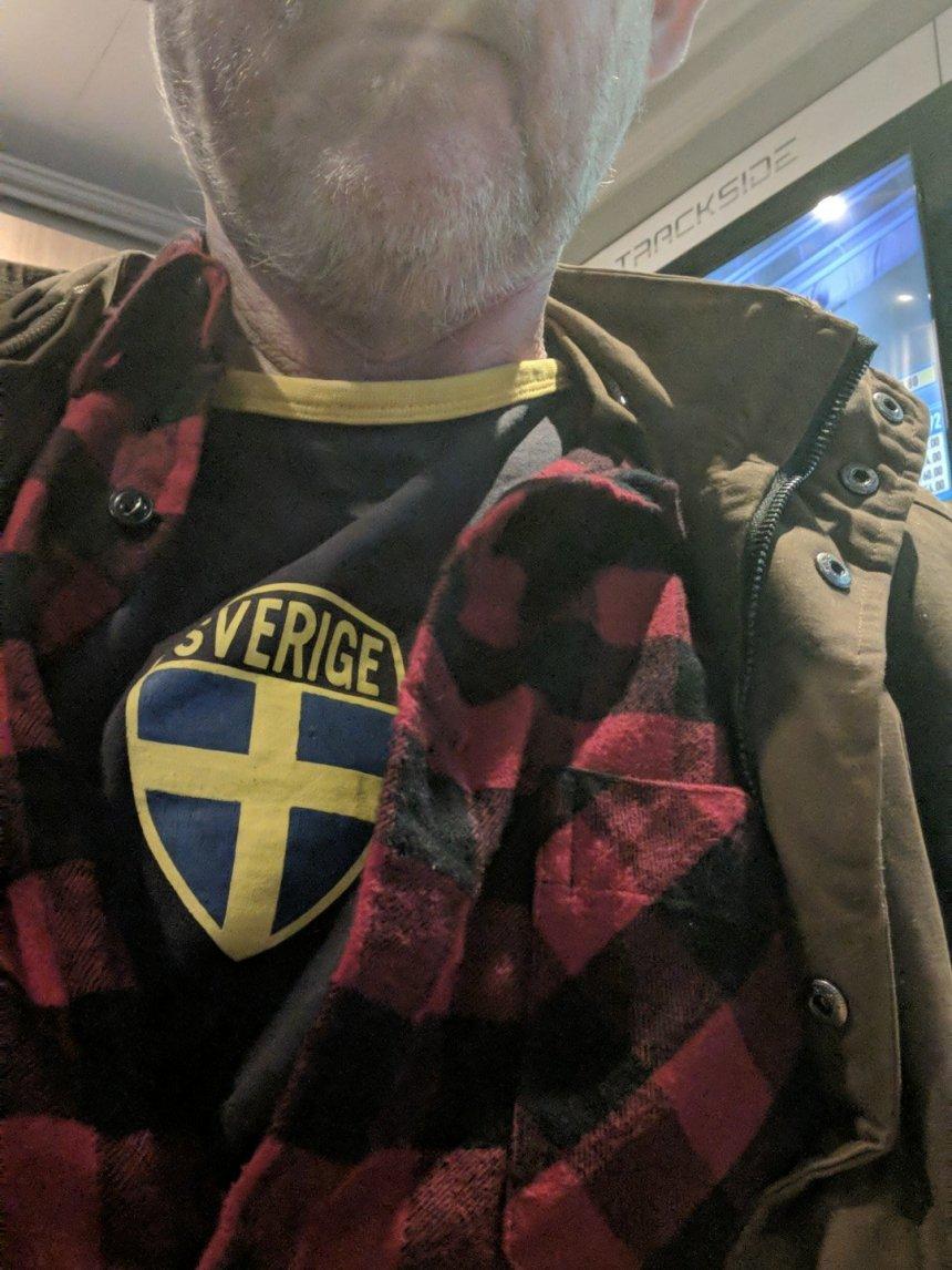 Supporting Sweden v England