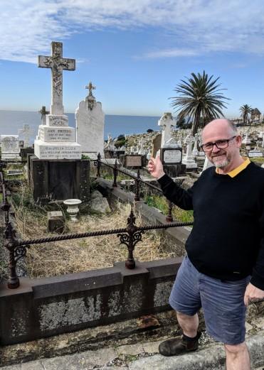 Visiting the grave of Ann Phibbs