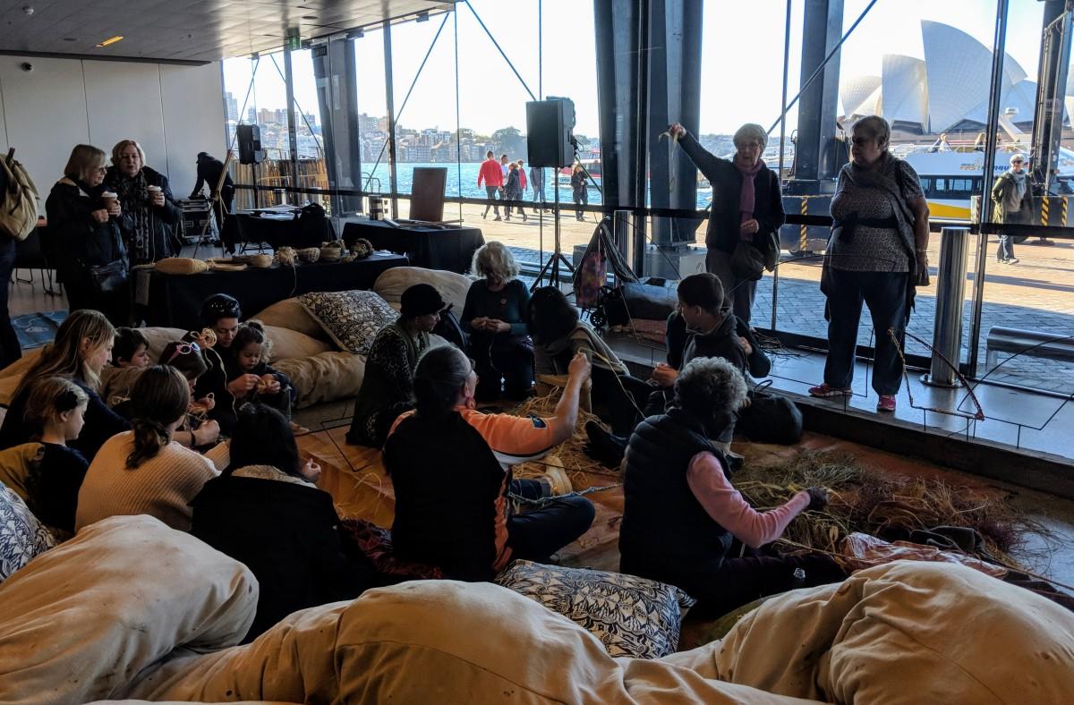 Weaving Circle at NAIDOC Arts Festival