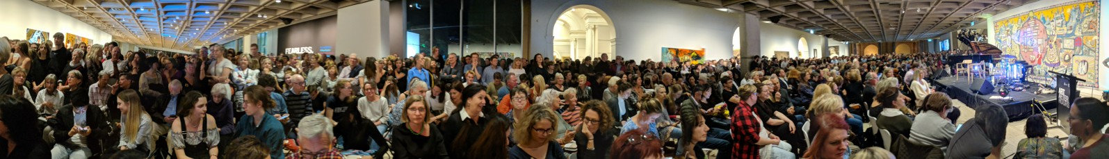 Crowd for Quilty and Minchin